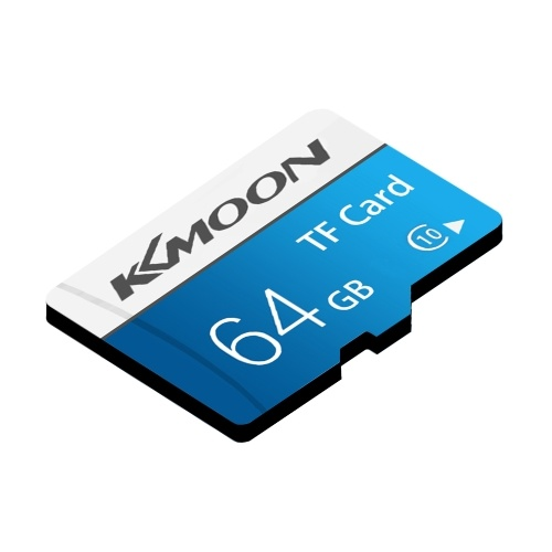 KKmoon Micro SD Card TF Flash Memory Card Data Storage 64GB Class 10 Fast Speed(Blue)