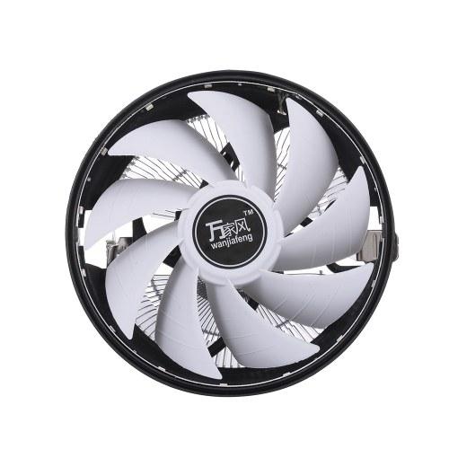 Hydraulic CPU Cooler Heatpipe Fans Quiet Heatsink Radiator for Intel 1156 1155 1151 AMD LED Light