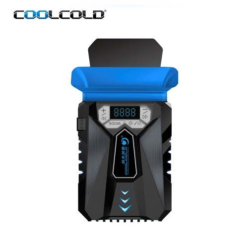 COOLCOLD K29 Laptop Air Extracting Cooling Fan Portable Computer Cooler Intelligent Temperature Control Breathing Light LCD Black