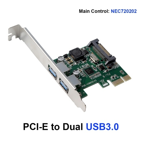 Карта расширения с двумя портами PCI-E к USB3.0 Адаптер PCI Express NEC720202 Главный чип управления для настольного ПК