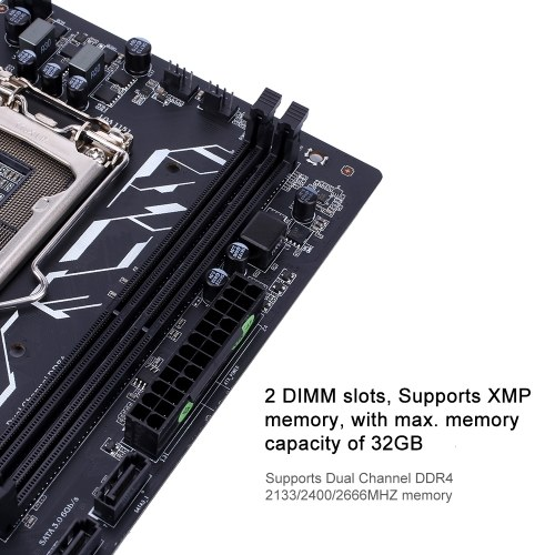 Красочная материнская плата H310M-E PRO V20 Системная плата Системная плата Intel LGA 1151 порт Coffee Lake-S Процессор DDR4 SATA3.0 6 Гбит / с mATX PCI-E 3.0 Слот расширения для настольных ПК