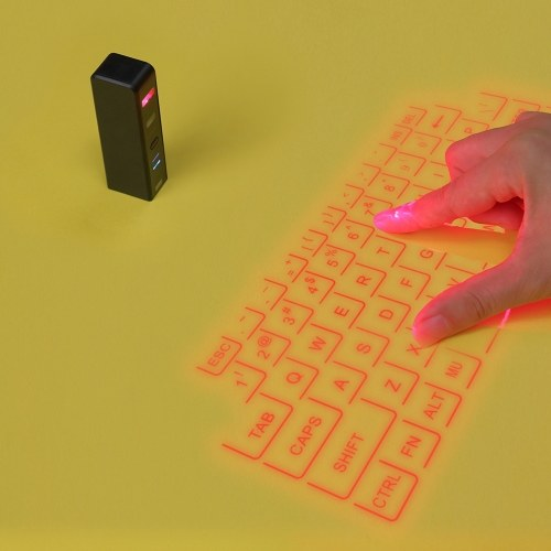Mini La-ser Projection Portable Virtual Touch Keyboard & Mouse BT QWERTY for Smart Phone/ PC/ Tablets