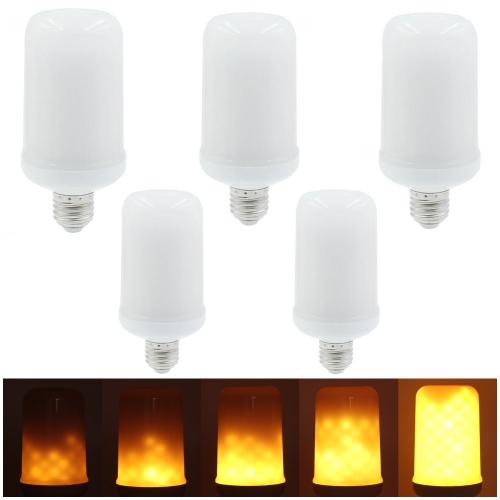 5PCS SMD2835 LED-Flammen-Flackern-Effekt-Glühlampen