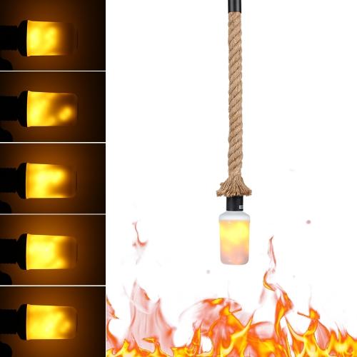 Plafonnier suspendu de 50cm E27 avec l'ampoule d'effet de feu de LED