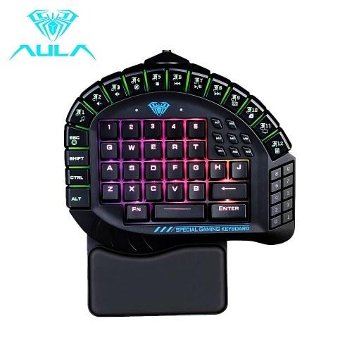 AULA Mechanical Keyboard Control 60 Keys Single Hand Gaming Keyboard