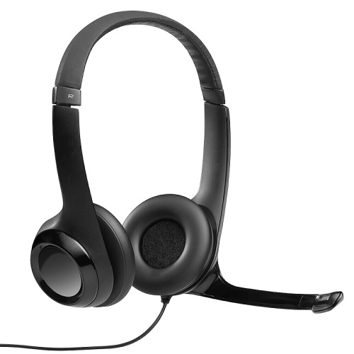 Logitech H390 Wired Headset Stereo USB Headset with Noise Reduction Microphone Ergonomic Headset for Voice Call Web Conference