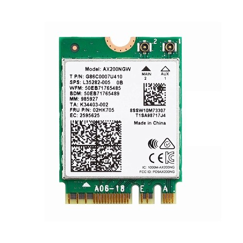 AX200NGW WiFi6 Wireless Network Card Dual-band Frequency Wireless Network Card Support BT 5.1 MU-MIMO NGFF M.2 Adapter Card