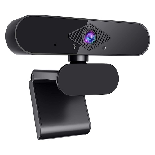 Full HD 1080P Webcam Crystal Clear Image Built in Microphone Great Compatibility 360°Adjustable Rotation Noise Reduction