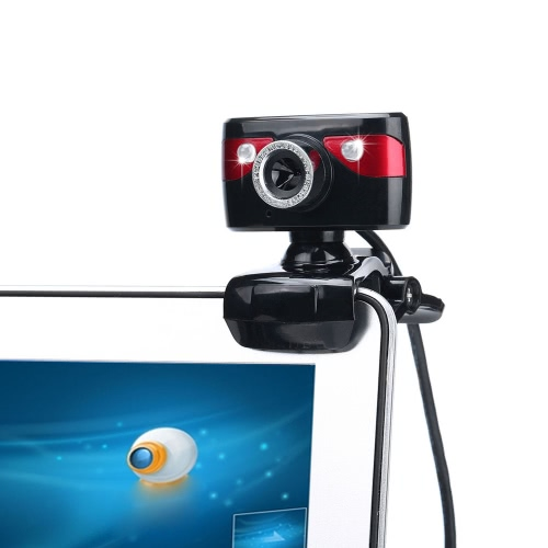 USB 2.0 12 Megapixel HD Camera Web Cam 360 Degree with Microphone Clip-on for Desktop Skype Computer PC Laptop