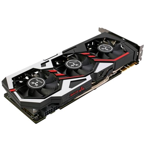Colorido NVIDIA GeForce GTX iGame 1080 placa gráfica GPU 8GB de 256 bits Gaming GDDR5X PCI-E X16 3.0 VR Pronto vídeo DVI + HDMI + 3 * DP Porto com três ventilador de refrigeração