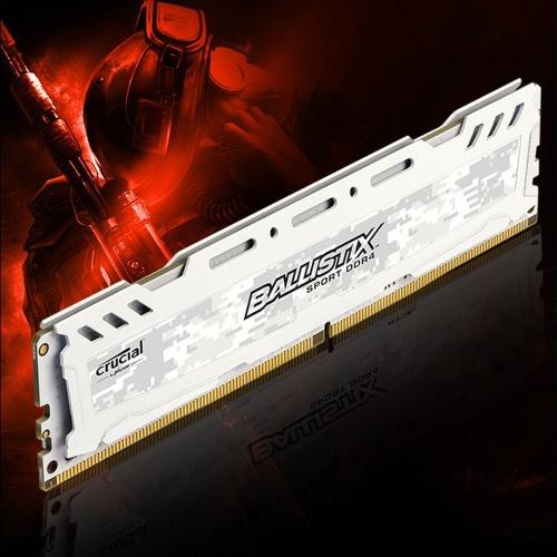 Crucial Ballistix Sport LT DDR4 memoria 8GB 2400MHz MT / s CL16 1.2V PC4-19200 UDIMM 288-pin per desktop BLS8G4D240FSC