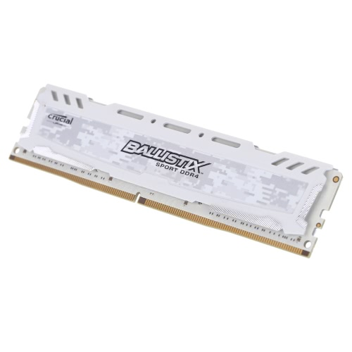 Crucial Ballistix Sport LT DDR4 8GB pamięć 2400MHz MT / s CL16 1.2V PC4-19200 UDIMM 288-pin do pulpitu BLS8G4D240FSC
