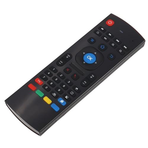 2.4G remoto teclado de controle do giroscópio Fly Air Mouse Mini Wireless Handheld IR Aprendizagem para Android TV Box HTPC PC
