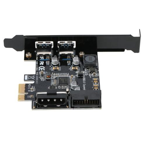 Karta STW PCI-E do USB 3.0 z 2 portami Karta PCI Express Złącze USB 3.0 19-stykowe i 5-pinowe złącze 4-pinowe męskie