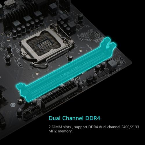 Colorful C.B250A-BTC YV20 Motherboard Systemboard for Intel B250/LGA1151 Socket Processor DDR4 SATA3 USB3.0 ATX Mainboard for Miner Mining Desktop