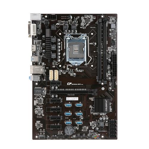اللوحة الملونة C.B250A-BTC YV20 اللوحة الأم لإنتل B250 / LGA1151 المقبس المعالج DDR4 SATA3 USB3.0 ATX اللوحة لسطح المناجم التعدين سطح المكتب