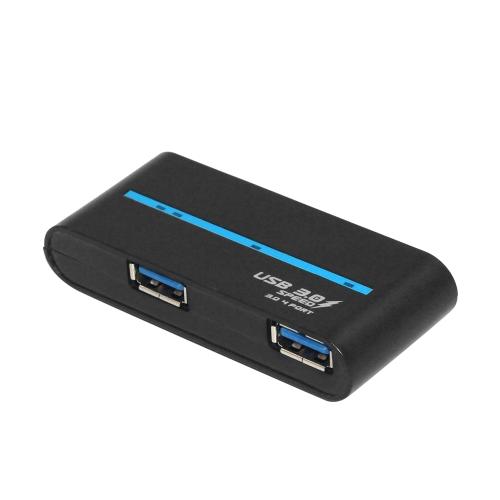 180 stopni Obrócenie USB 3.0 Hub Składanie USB 4 Port Splitter One Drag Cztery Hub USB Hub Komputer Plug and Play Czarny