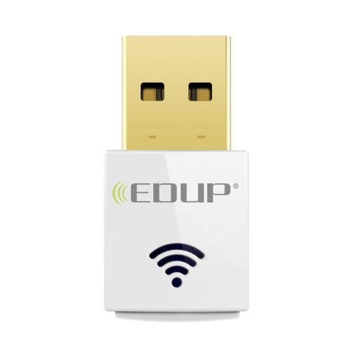 EDUP Mini 2.4G 5.8G Adaptador WiFi 600Mbps Adaptador de cartão de rede sem fio de banda dupla sem fio IEEE 802.11AC Branco
