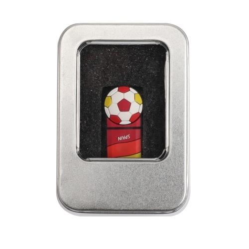 كرة القدم نمط 32GB USB 2.0 ذاكرة فلاش يو القرص للكمبيوتر