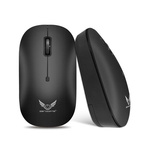 ZERODATE T18 Bezprzewodowa mysz optyczna BT 3.0 Przenośna mobilna mysz 3-przyciskowa z czujnikiem optycznym o wysokiej rozdzielczości do komputera Tablet PC
