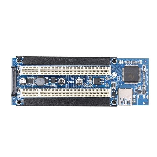 PCI-E to PCI Adapter Card PCI-E to Dual PCI Slot Expansion Card Support Capture Card/Golden Tax Card/Sound Card