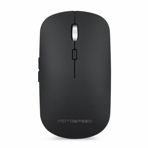 Motospeed BG60 2.4G Mouse Óptico Sem Fio BT Conexão Dupla RGB Backlit 6 Botões 2400 DPI Suporte QI Carga Sem Fio para Win Mac Android