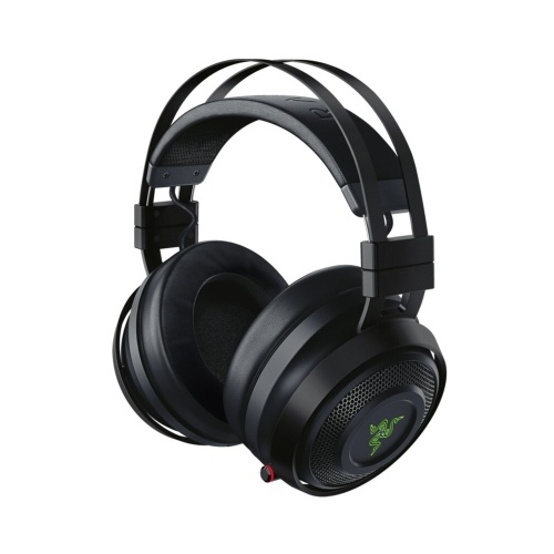 Razer Nari Ultimate Gaming Headset Headphone Wireless 7.1 Surround Sound Earphone THX Spatial Audio & Haptic Feedback Auto-Adjust Headband & Swivel Cups Chroma RGB Retractable Mic Game/Chat Balance for PC, PS4, Mac & Mobile Devices USB Transceiver/3.5mm Analog Interface