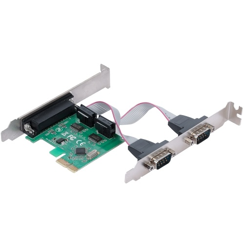 PCI-E Serial Parallel Ports Expansion Card  PCI Express to 1 IDE 2 Serial Port Converter Adapter