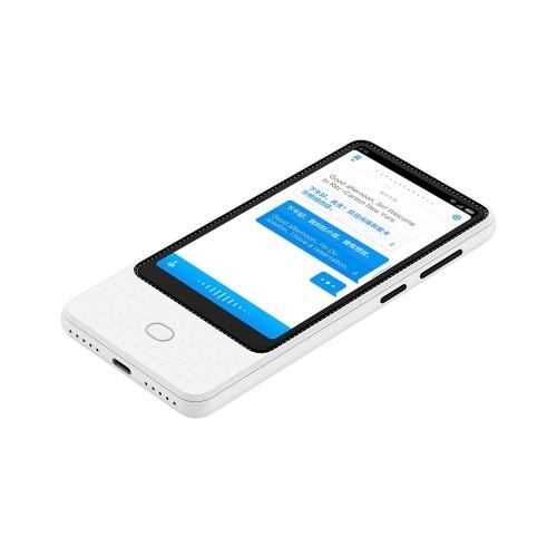 Xiaomi Mijia AI Voice Translator Recorder 1 + 8GB 18 lingue Touch Screen da 4,1 pollici 6 Microfono Online Camera Photo Translator 3 Modi per navigare in Internet Bianco