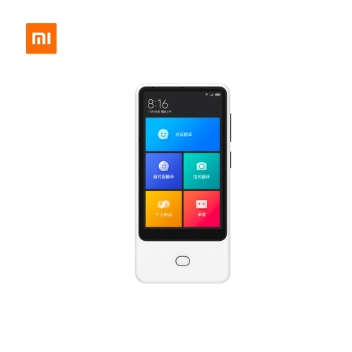Xiaomi Mijia AI Voice Translator Recorder 1+8GB 18 Languages 4.1 inch Touch Screen 6 Microphone Online Camera Photo Translator 3 Ways to Surf the Internet White