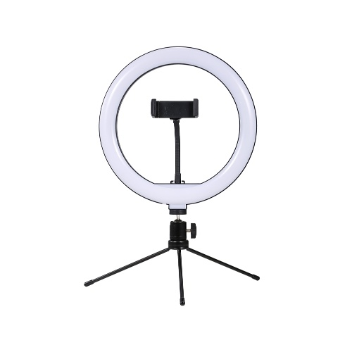 10inch LED Desktop Video Ring Light Selfie Lamp With Desktop Tripod Stand USB Plug For YouTube Tik Tok Live Streaming