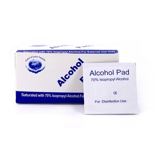 10PCS Disposable Mask 3-Layer Non-Woven Masks + 100PCS Disposable Alcohol Cotton Pads 6*3cm