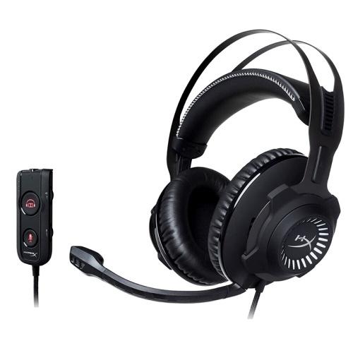 Headset para jogos Kingston HyperX Cloud Revolver S com microfone removível de efeito de som surround Dolby 7.1
