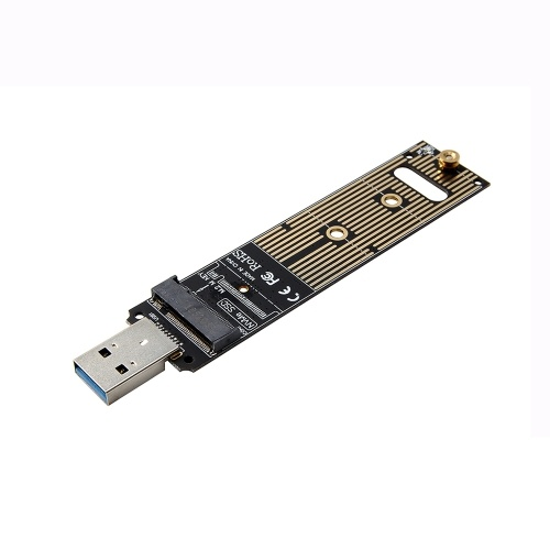 M.2 NVME a USB3.0 Mobile Adapter Card Converter Card Support M.2 PCIE (Key M) Interface NVME SSD Not Support SATA Protocol