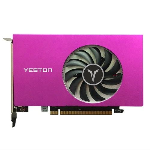 Yeston RX550-4G 4HDMI 4-экранная видеокарта с поддержкой разделенного экрана 10-битная глубина цвета HDR 4G / 128bit / GDDR5 с 4 портами HDMI