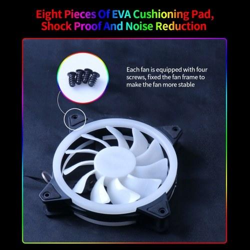 Computer Radiator Fan 12cm Case Cooling RGB Fan Mute Cool Lighting Efficient Heat Dissipation High Speed Three Option 6 Fans