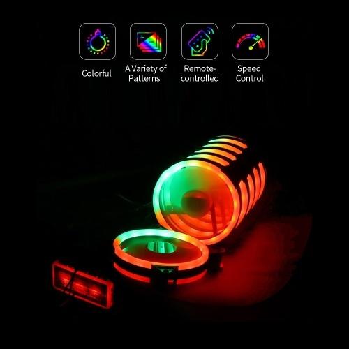 Computer Radiator Fan 12cm Case Cooling RGB Cool Lighting Efficient Heat Dissipation AURA SYNC Controller Three Option 6 Fans