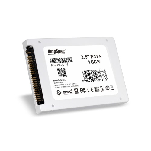 """KingSpec PATA(IDE) 2.5"""" 16GB MLC Digital SSD Solid State Drive for PC C2762-16"""