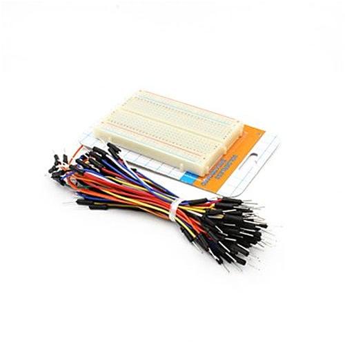 400-Hole Mini Bread Board Test Board w/ 60~65 Cables