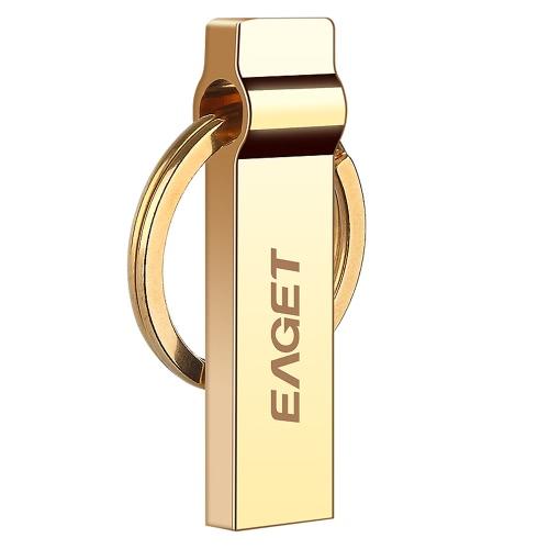 EAGET U90 Tablet PC USB 3.0 Memória de armazenamento portátil Full Metal à prova de água com chaveiro