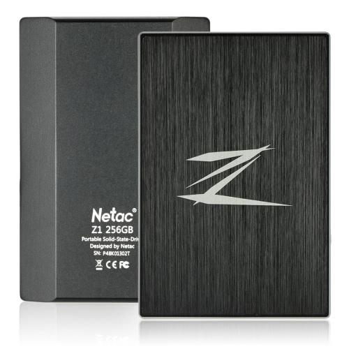 Netac Z1 256GB Portable SSD Zewnętrzny dysk SSD SuperSpeed USB 3.0 Cache 256MB