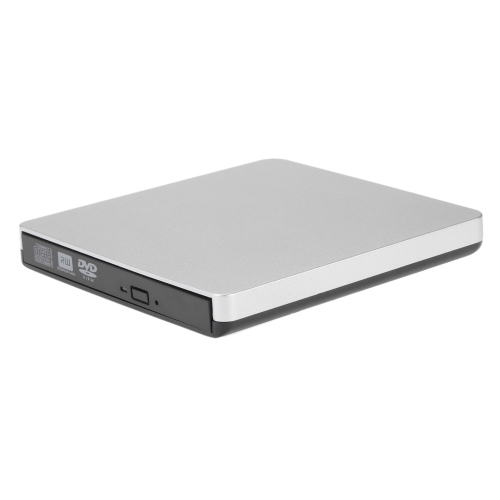 USB 2.0 Portátil Ultra Slim External CD DVD ROM jogador unidade de gravação Burner Reader para iMac / MacBook / MacBook Air / Pro Laptop PC desktop