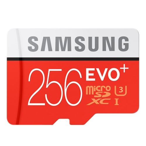 Samsung Memory 256GB EVO Plus MicroSDXC 100MB/s UHS-I (U3) Class 10 TF Flash Memory Card MB-MC256GA/CN High Speed for Phone Tablet Cemara