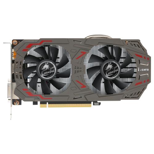 Colorido NVIDIA GeForce GTX 1060 GPU 3GB 192bit Esport Gaming GDDR5 3072M PCI-E X16 3.0 VR Pronto vídeo placa gráfica DVI + HDMI + 3 * DP Porto com dois ventilador de refrigeração