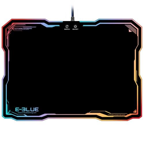 E-3LUE EMP013 LED de iluminación USB cableada Gaming Mouse Pad Dazzle RGB de colores de luz de fondo del juego con ratones de la estera de conmutación inteligente
