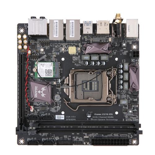 Kolorowa iGame Z270I-WF GAMING Płyta główna płyty głównej dla chipsetu Intel Z270 Gniazdo LGA1151 ITX DDR4 SATAIII Typ C USB3.0 M.2 Obsługa portów Moduł WiFi / BT