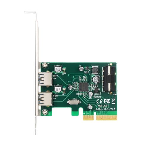 PCI-E na 2 porty USB3.1 Karta rozszerzeń PCI Express typu A Karta pamięci USB 3.1 Hub Superspeed 10 Gb / s z gniazdem zasilania Big 4Pin i chipsetem Asmedia