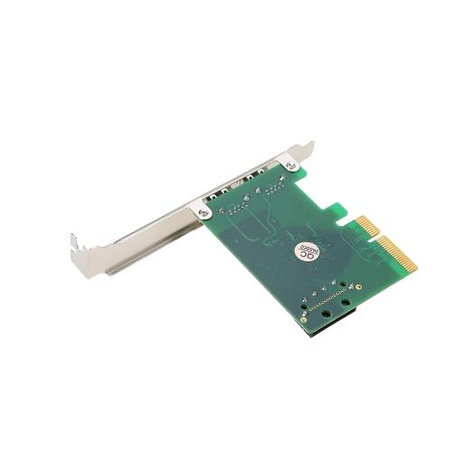 PCI-E a 2 porte USB3.1 Tipo A Scheda di espansione PCI Express Scheda di hub hub USB 3.1 Superspeed 10 Gbps con connettore di alimentazione Big 4Pin e chipset Asmedia