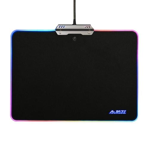 AJAZZ RGB 9 modos de iluminação Touch Control Hard Gaming Mousepad