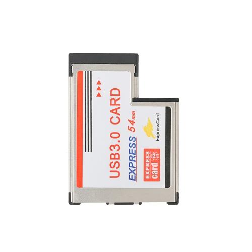 54mm ExpressCard ExpressCard do 2 portów USB 3.0 Hidden Inside Adapter Konwerter do laptopa z chipsetem NEC